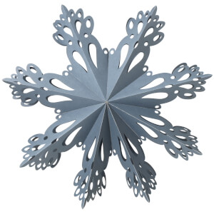 Broste Copenhagen Paper Snowflake Christmas Decoration - Large - Orion Blue