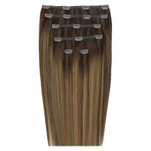 Beauty Works Double Hair Set 18 Inch Clip-In Hair Extensions doczepiane włosy clip-in 45 cm – #Brond'mbre