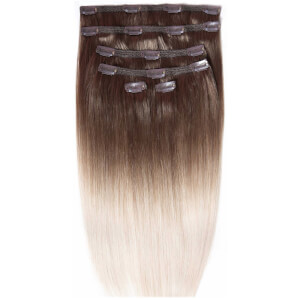 Beauty Works Double Hair Set 18 Inch Clip-In Hair Extensions - #High Contrast Ash