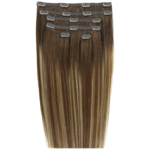 Beauty Works Double Hair Set 18 Inch Clip-In Hair Extensions doczepiane włosy clip-in 45 cm – #Mocha Melt