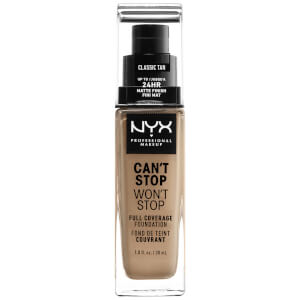 NYX Professional Makeup Can't Stop Won't Stop 24 Hour Foundation (Various Shades)