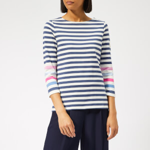 Joules Women's Harbour Jersey Top - Cream/Blue/Stripe