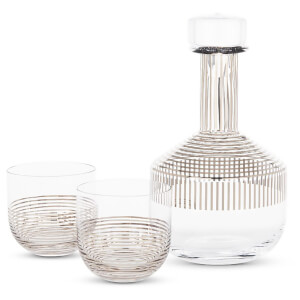Tom Dixon Tank Whiskey Set - Platinum Stripe