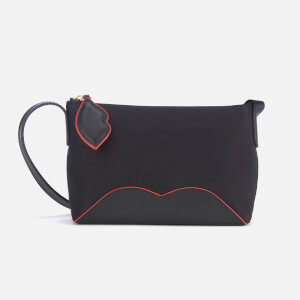 Lulu Guinness Women's Cupid's Bow Marie Cross Body Bag - Black/Scarlet