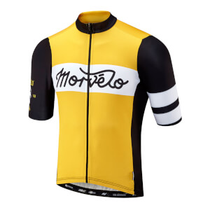 Morvelo Mostrada Short Sleeve Jersey - Black/Yellow