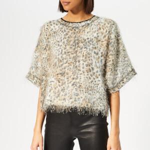 McQ Alexander McQueen Women's Short Sleeve Batwing Top - Leopard