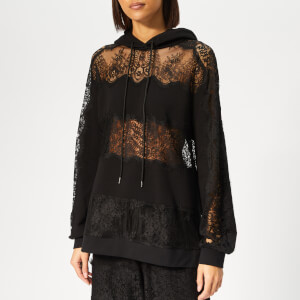 McQ Alexander McQueen Women's Lace Stripe Hoody - Darkest Black