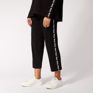 McQ Alexander McQueen Women's Cropped Racer Pants - Darkest Black