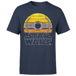 Star Wars Classic Sunset Tie Herren T-Shirt - Navy Blau