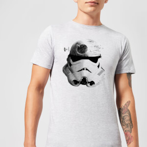 Star Wars Command Stromtrooper Death Star Men's T-Shirt - Grey