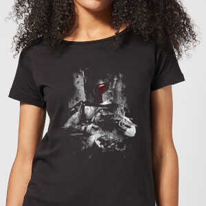 T-Shirt Star Wars Boba Fett Distressed - Nero - Donna