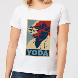 Star Wars Yoda Poster Women's T-Shirt - White