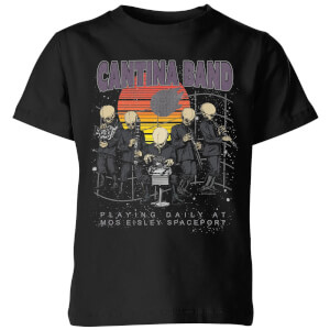 Star Wars Classic Cantina Band At Spaceport Kinder T-Shirt - Schwarz