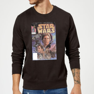 Star Wars Classic Classic Comic Book Cover Pullover - Schwarz