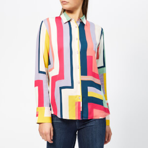 PS Paul Smith Women's Zig Zag Stripe Shirt - Multi