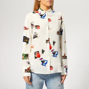 PS Paul Smith Women's Scrapbook Silk Shirt - White