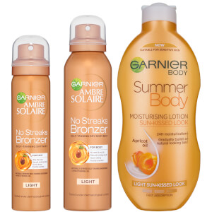 Garnier Ambre Solaire Summer Body and No Streaks Bronzer Self Tan Kit zestaw samoopalający