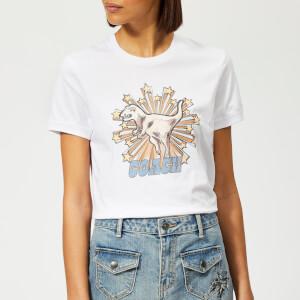 Coach 1941 Women's Rexy Star T-Shirt - Optic White