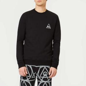 Avant L'Oeil Men's Breast Logo Basic Sweatshirt - Black
