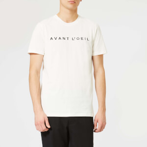 Avant L'Oeil Men's Embroidered Logo T-Shirt - White