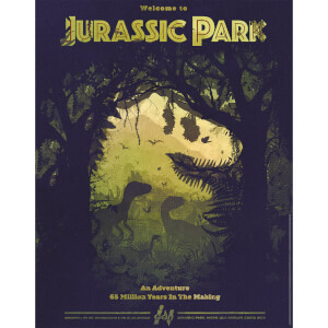 "Jurassic Park ""65 Million Years In The Making"" Fine Art 16"" x 20"" Giclee By Ben Harman (Hand Signed) - Zavvi Timed Edition"