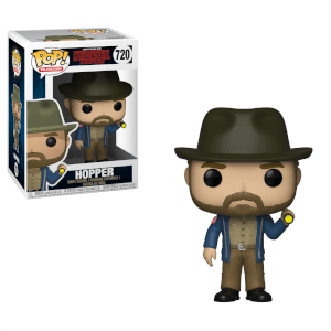 Stranger Things Hopper with flashlight Pop! Vinyl Figur