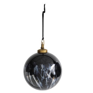 Nkuku Danoa Giant Round Bauble - Aged Smoke/Black