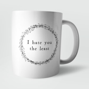 I Hate You The Least Mug