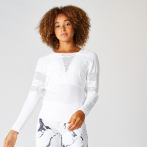 MP Shape Seamless Loose Fit Long Sleeve Top - White