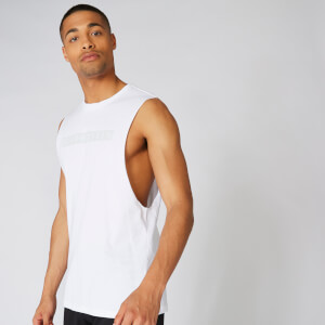Myprotein The Original Drop Armhole Tank - White