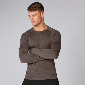 Elite Seamless Long-Sleeve Top - Gråbrun