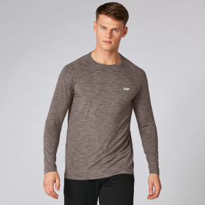 Performance Long-Sleeve Heren T-Shirt - Driftwood Marl