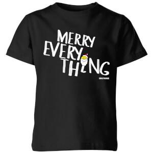 Smiley World Merry Everything Kids' T-Shirt - Black