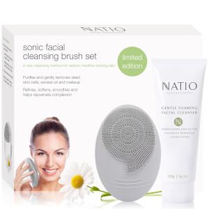 Natio Sonic Facial Cleansing Brush Set (Free Gift) (Worth £29.99)