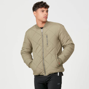 Myprotein Pro-Tech Quilted Bomber Jacket - Light Olive