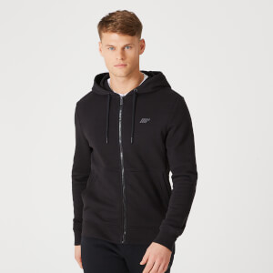 Tru-Fit Zip Up majica s kapuljačom 2.0 - Crna