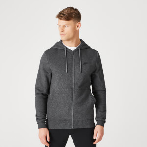 Myprotein Tru-Fit Zip Up Hoodie 2.0 - Charcoal Marl