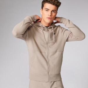 Myprotein Tru-Fit Zip Up Hoodie 2.0 - Taupe