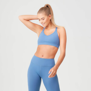 Power Mesh Sports Bra - Thunder Blue