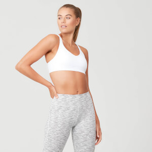 Myprotein Power Mesh Sports Bra - White