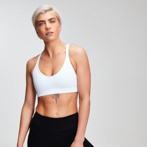 Power Mesh Sports Bra - White