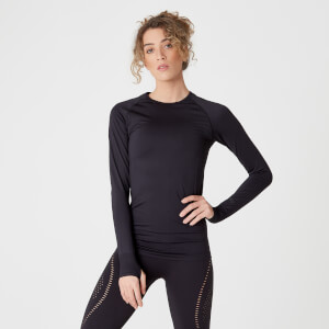 Shape Seamless Langærmet Top – Sort