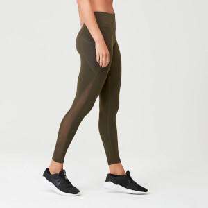 Myprotein Power Mesh Leggings - Dark Khaki