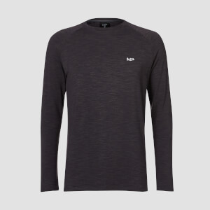 MP Performance Long-Sleeve T-paita - Musta Marl