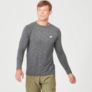 Myprotein Performance Long Sleeve T-Shirt - Black Marl