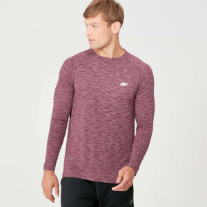 Performance Langærmet T-Shirt - Burgundy Marl