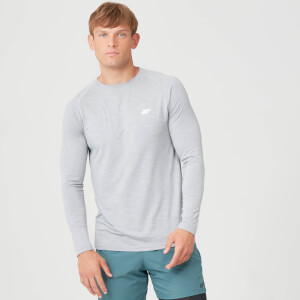Performance Langærmet T-Shirt - Grey Marl