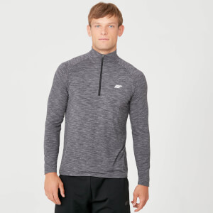 Performance 1/4 Zip Top - Charcoal Marl