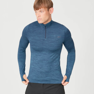 MP Sculpt Seamless 1/4 Zip Top - Petrol Blue
