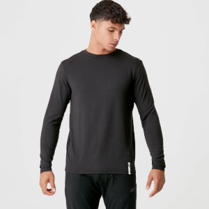 Myprotein Luxe Classic Long Sleeve Crew - Black